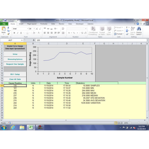 SW-1X Force Data Acquisition Software
