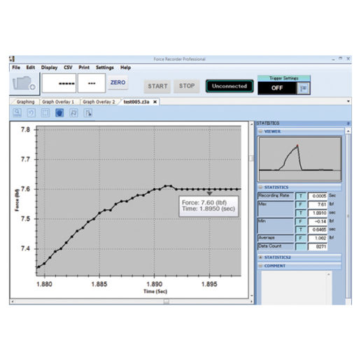 Force Recorder data acquisition software