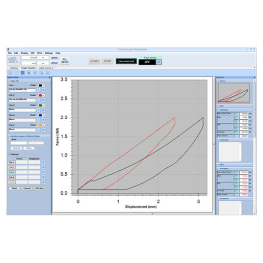 Force Recorder aligns multiple graphs