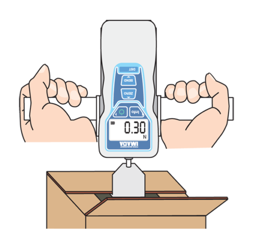 DST digital force gauge testing cardboard box